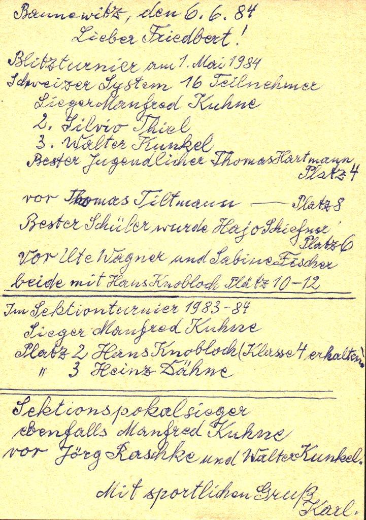 Karl schreibt Friedbert Mückan von Freital
