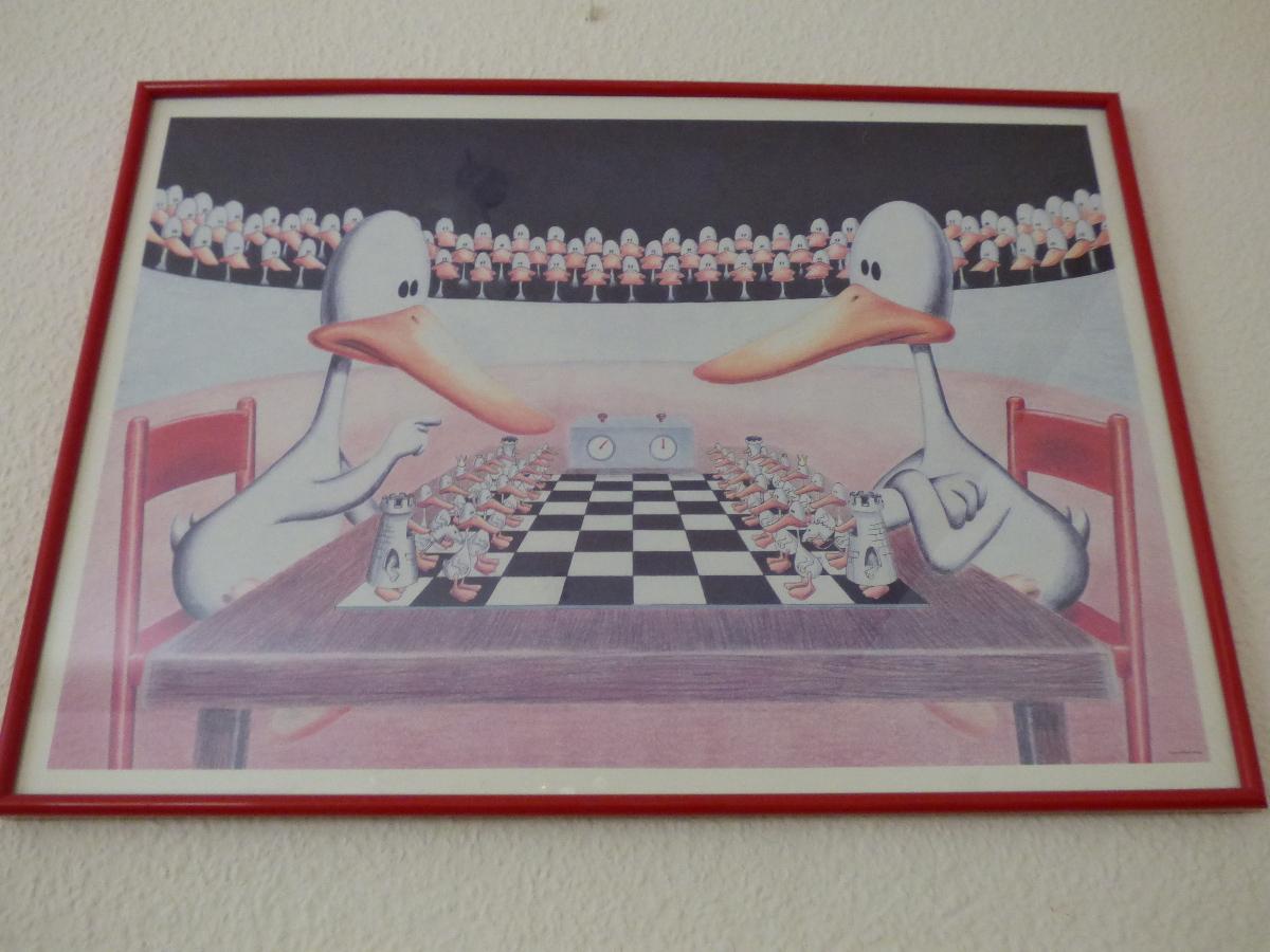 Enten beim Schach